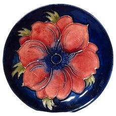 Moorcroft Anemone Cobalt Pin Dish