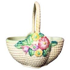 Vintage Carlton Ware Springtime Flower Basket Planter