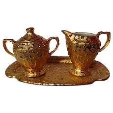 Kingwood Ceramics Weeping Gold Coffee Service Set