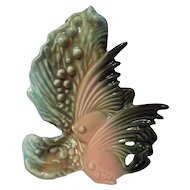 Hull Pottery Ebb Tide E-2 Twin Fish Vase
