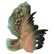 Hull Pottery Ebb Tide E-2 Twin Fish Vase