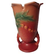 Vintage Pink Roseville Bleeding Heart 964-6 Vase