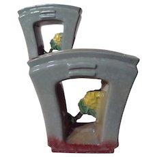 Vintage Roseville Pottery Artwood 1051-6 Planter Set