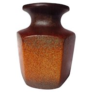 Scheurich West German Hexagonal Vase ~ Model 297-16