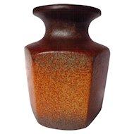 Scheurich West German Hexagonal Vase ~ Model 297-16