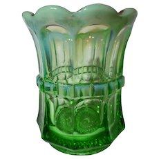 Northwood Glass Green Opalescent Regal Spooner