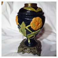 Secessionist Art Nouveau Austrian Stoneware Kerosene Lamp Base