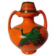 Vintage Shelley China Dancing Cranes Vase