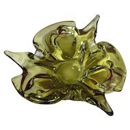 Chalet Signed Light Green Pointed Cigar Ashtray