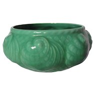 Shorter And Son Matte Green Nautilus Low Bowl