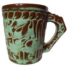 Frankoma Mayan Aztec Prairie Green Coffee Mug