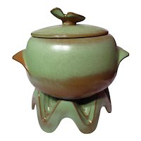 Frankoma Prairie Green Lazybones 4 Qt Covered Baker With Warmer