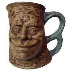 Vintage 1971 Rumph Pottery Ogre and Troll Tankard