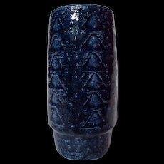 Vintage Palshus Danish Modern Chamotte Cylinder Vase