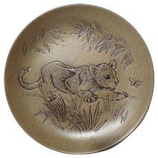 Poole Pottery Stoneware Plate, Lion Cub