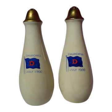 Vintage Royal Winton Churchill Commemorative Salt & Pepper