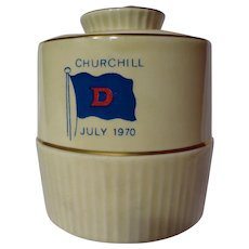 Vintage Royal Winton Churchill Commemorative Mustard Pot