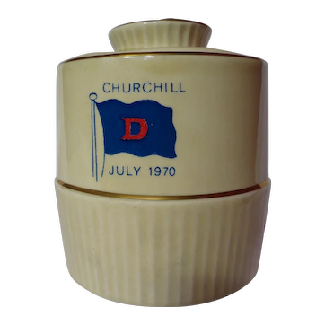 Vintage Royal Winton Churchill Commemorative Mustard Pot