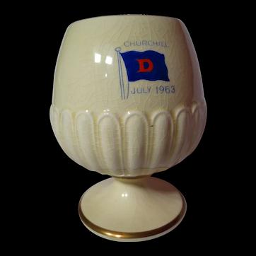 Vintage Royal Winton Churchill Commemorative Goblet Vase