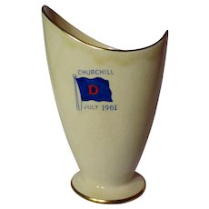Vintage Royal Winton Churchill Commemorative Modernist Vase