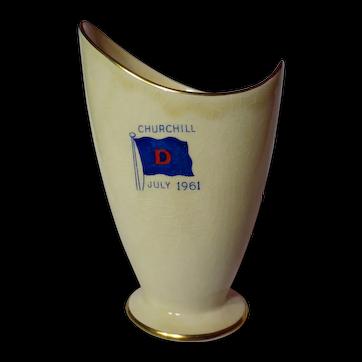 Vintage Royal Winton Churchill Commemorative Modernist Vase