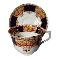 Vintage Colclough Imari Cobalt Blue Poppies Tea Cup - 3 Available