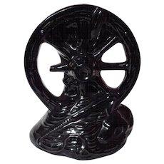 Vintage McCoy Pottery Wagon Wheel Planter Vase