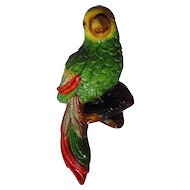 Vintage Chalkware Parrot Wall Hanger