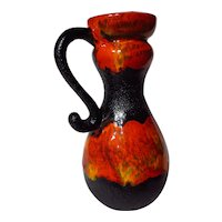 Vintage Walter Gerhards West German Fat Lava Pitcher Vase