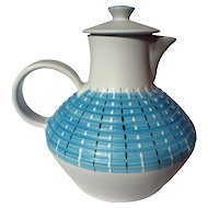 Mid-Century Modern Denby Stoneware Burlington Covered Water Pitcher