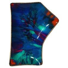 Rare Early Seetusee Potpourri Figural Art Glass Tray