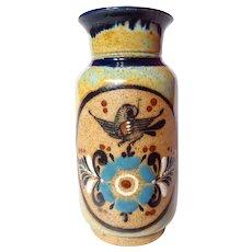 Mexican Tonala Pottery Dripware Vase