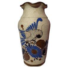 Large Tonala Sandstone Mexican Pottery Folk Art Vase