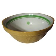 Vintage TG Green Yellow Ware Green Dot & Band Easimix Mixing Bowl