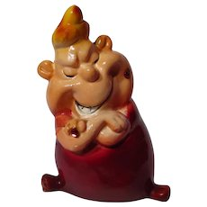 Vintage 1960's Kreiss Psycho Ceramics Smug Figurine