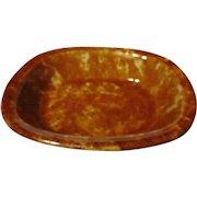 Rockingham Glazed Yellow Ware Rectangular Serving Dish