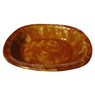 Rockingham Glazed Yellow Ware Rectangular Serving Dish