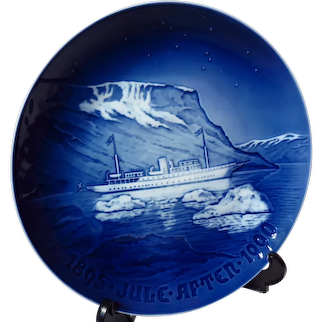 "Bing & Grondahl ""The Royal Yacht Dannebrog"" 1990 Christmas Jubilee Plate"
