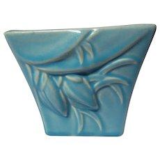 Turquoise McCoy Pottery Lilybud Square Jardiniere