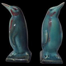 Beswick Model 450B Penguin Figurine Set ~ Gloss Blue