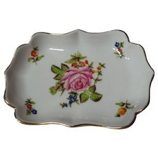 Herend China Rose Decorated Trinket Dish 7798
