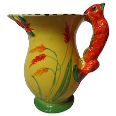 Vintage Burleigh Ware Vibrant Squirrel Handle Jug 1930'S