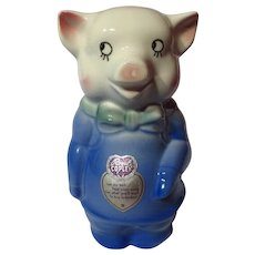 Vintage Royal Copley Figural Pig Coin Bank
