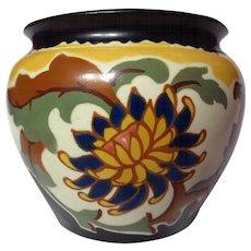Vintage 1930's Czechoslovakian Art Pottery Jardiniere