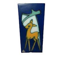 Abstract Flora Gouda Deer Wall Plaque