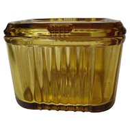 Vintage Federal Glass Amber Refrigerator Dish
