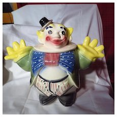Vintage Maurice of California Clown Cookie Jar
