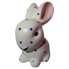 Plichta Weymss Bovey Pottery Blue Polka Dot Rabbit
