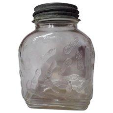Vintage Hazel Atlas Peanut Butter Jar
