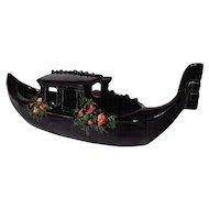 Vintage McCoy Black Gondola Candy Boat Planter